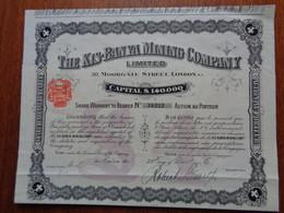 ANGLETERRE - LONDRES 1906 - THE KIS-BANYA MINING CIE - TITRE DE 1 ACTION DE £ 4 - Zonder Classificatie