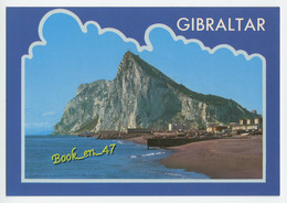 {84119} Gibraltar , North East View Of Rock From Spanish Coastline - Gibraltar