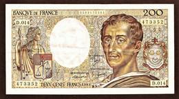 """200 Francs """"MONTESQUIEU""""     1983    SUP - 200 F 1981-1994 ''Montesquieu''"""
