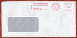 Brief, Pitney Bowes E31-0271, Piepenbrock, 100 Pfg, Osnabrueck 1989 (420) - Machine Stamps (ATM)