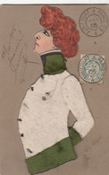 Caricature SARAH BERNARDT Dans L'AIGLON     Feutrine Et Carton Dessiné Main - Mujeres