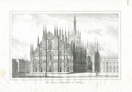 Antique Engraving 1835 Duomo Di Milano Milan Cathedral Nativity Of Saint Mary - Prenten & Gravure