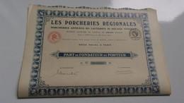 LES PORCHERIES REGIONALES Porcheries Annexes Des Laiteries Du Bocage Vendéen - Zonder Classificatie