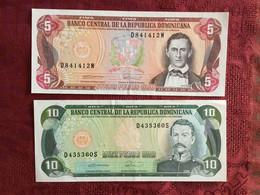 Dominican Republic 5 And 10 Peso Notes - Repubblica Dominicana