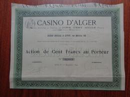 ALGERIE - CASINO D'ALGER - ACTION DE 500 FRS - LYON 1899 - Zonder Classificatie