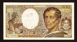"""200 Francs """"MONTESQUIEU""""     1990   SPL - 200 F 1981-1994 ''Montesquieu''"""