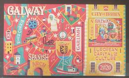 Ireland - 2020 - MNH As Scan - Capitals Of Culture - Galway And Rijeka (Joint With Croatia) - Souvenir Sheet Of 1 Stamp - Ongebruikt