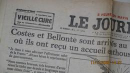 LE JOURNAL / 2 N° ( 25 Et 26 Octobre 1930 ) / COSTES Et BELLONTE RETOUR Au HAVRE Et ACCUEIL TRIOMPHAL De PARIS - Altri
