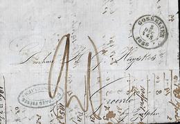 Belgique. LsC  Gosselies (Herlant N°77) > Groenloo Bij Zutphen (NL)   5/12/1858   Nord N° 1 - 1830-1849 (Unabhängiges Belgien)