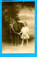 COVn1613, Petite Fille Avec Son Poney, Pony, Circulée 1914 - Cavalli