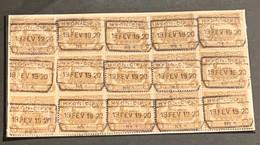 TR77 Blok Van 15 - HYON CIPLY NR 1 - 1915-1921