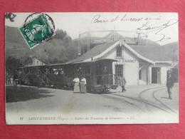 CPA VOSGES 88 SANT ETIENNE Les REMIREMONT - STATION DES TRAMWAYS DE GERARMER - Carte Postale Ancienne - Saint Etienne De Remiremont