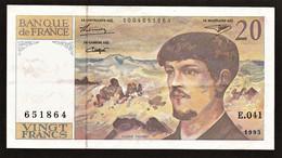"20 Francs ""DEBUSSY""     1993   SPL - 20 F 1980-1997 ''Debussy''"