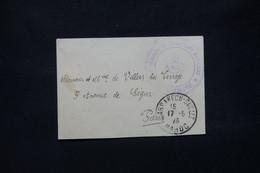 MAROC - Cachet De Vaguemestre D'un Régiment De Tirailleurs Sur Enveloppe De Marrakech En 1923 Pour Paris - L 79917 - Lettres & Documents