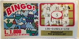 Numero Centrale 5 GRATTA E VINCI  - BINGO - Lottery Tickets