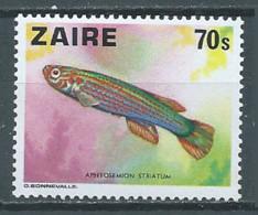 Zaïre YT N°901 Poisson Aphyosemion Striatum Neuf ** - 1971-79: Gebraucht
