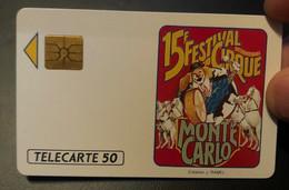 Télécarte / Phonecard Monaco Festival De Cirque Monte Carlo - Mónaco