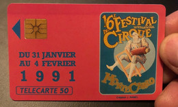 Télécarte / Phonecard Monaco Festival Du Cirque - Mónaco