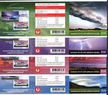 Australie Australia 4610/13 Nuages, Autoadhésifs Carnets - Clima & Meteorologia