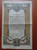 AUTRICHE - VIENNE 1915 - DRITTE FÜNFEINHALBPROZENTIGE - TITRE DE 100 COURONNES - Zonder Classificatie