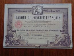 FRANCE - 13 - MARSEILLE  1922 - BANQUE FONCIER FRANCAIS - ACTION DE 100 FRS - Zonder Classificatie