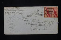 ETATS UNIS - Enveloppe D'un Soldat Pour Les USA En 1944 Avec Cachet De Censure - L 79936 - Briefe U. Dokumente