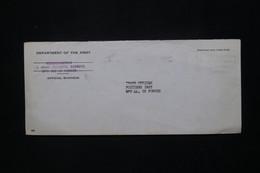 ETATS UNIS - Enveloppe En Fm Pour La Base Américaine En France à Poitiers En 1963 - L 79937 - Cartas