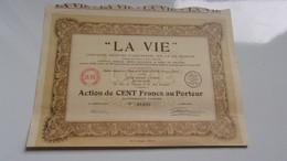 """""""LA VIE""""  (1935) - Zonder Classificatie"""