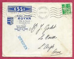 Charente-Enveloppe Avec Oblitération De Royan - 1961-....