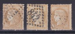 D 241 / CERES N° 59 OBL COTE 18€ / 3 TIMBRES - 1871-1875 Ceres