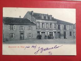 CPA SOUVENIR DE VIGY PRÈS METZ RESTAURATION PAUL MONPEURT 1902 - Metz