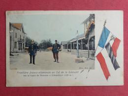 CPA VOSGES 88 FRONTIERE FRANCO ALLEMANDE AU COL DE LA SCHLUCHT- Carte Postale Ancienne - Xonrupt Longemer