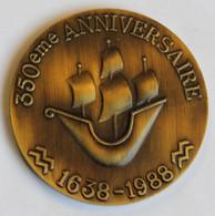 MEDAILLE 350e ANNIVERSAIRE REGIMENT ROYAL DES VAISSEAUX 1638-1988 - Francia