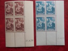 FRANCE COINS DATES 386/87 NEUFS SANS CHARNIERE NI TRACE  TRES FRAIS - 1930-1939