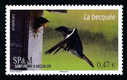 ST-PIERRE ET MIQUELON 2012 - Yv. 1024 **   Cote= 2,00 EUR - Oiseau Hirondelle  ..Réf.SPM12542 - Unused Stamps