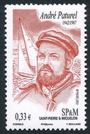 ST-PIERRE ET MIQUELON 2012 - Yv. 1049 **  - André Paturel, Navigateur  ..Réf.SPM12551 - Unused Stamps