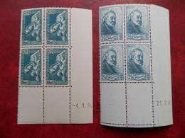 FRANCE COINS DATES 419 ET 421 NEUFS SANS CHARNIERE NI TRACE  TRES FRAIS - 1930-1939