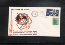 USA 1968 Space / Raumfahrt Satellite Explorer 36 GEOS - 11 Interesting Letter - Stati Uniti