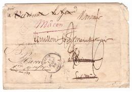 Recherche Destinataire Et Rebut : Lettre De Macon (Saône Et Loire) 1858 Pour Varennes. Cachet CL, Taxes Corrigées. - 1801-1848: Precursors XIX