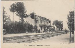 D58 - FLEZ CUZY - TANNAY - LA GARE - Nombreuses Personnes Et Enfants - Chien - Other Municipalities