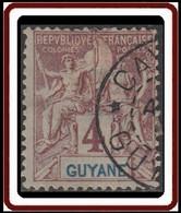 Guyane Française 1886-1915 - N° 32 (YT) N° 31 (AM) Oblitéré. - Used Stamps
