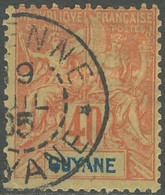 Guyane Française 1886-1915 - N° 39 (YT) N° 38 (AM) Oblitéré De Cayenne. - Used Stamps