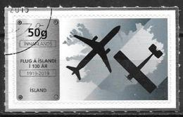 Islande 2019 Timbre Oblitéré 100 Ans De L'aviation En Islande - Gebraucht