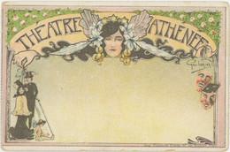 75009 PARIS Rue Boudreau Théatre De L'Athénée Illustrateur Dorival Belle Carte Précurseur - Paris (09)