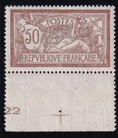 France 1900 - Merson 50 Centimes  YT 120 Neuf  Avec 2 Traces Sur La Colle, Trou épingle Sur Le BDF - Bien Centré - Ungebraucht