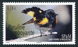 ST-PIERRE ET MIQUELON 2015 - Yv. 1124 **   Faciale= 0,38 EUR - Faune. Oiseaux. Paruline Flamboyante  ..Réf.SPM12566 - Unused Stamps