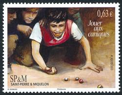 ST-PIERRE ET MIQUELON 2013 - Yv. 1077 **   Faciale= 0,63 EUR - Expression Locale 'Jouer Aux Caniques'  ..Réf.SPM12569 - Unused Stamps