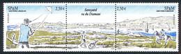 ST-PIERRE ET MIQUELON 2014 - Yv. 1119 Et 1120 Tryptique NEUF Faciale= 5,00 EUR - Etang De Savoyard (2 Val) .Réf.SPM12565 - Unused Stamps