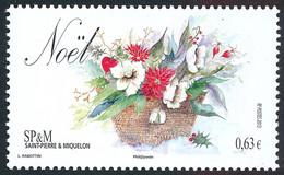 ST-PIERRE ET MIQUELON 2013 - Yv. 1096 **   Faciale= 0,63 EUR - Noël. Bouquet De Fleurs  ..Réf.SPM12571 - Unused Stamps
