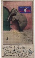 Buvard - Elephant Et Souris - Souvenir China Clipper First Flight San Francisco Nov. 22, 1935 - Animals